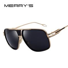 acb2a07e2a MERRY S Men s Sunglasses Newest Vintage Big Frame Goggle Summer Style Brand  Design Sun Glasses Oculos De
