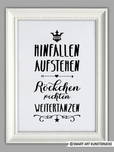 """""""HINFALLEN, AUFSTEHEN, WEITER TANZEN"""" Kunstdruck von SMART ART Kunstdrucke ® auf DaWanda.com"""