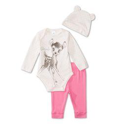 Frontimage view Pyjama pour bébé en coton biologique in blanc / rose prix 12euro