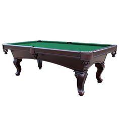 Monterey 8' Mahogany Slate Pool Table Red, Burgundy, Black, Camel, Green