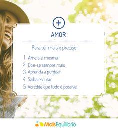 Quer ter mais amor na sua vida? http://maisequilibrio.com.br/amor-e-autoimagem-7-1-6-259.html