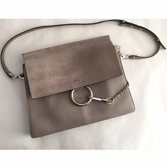 Chloe Faye gray Gray Chloe Faye medium leather shoulder bag. It's in excellent condition only been used a handful of times! Comes with dust bag and authenticity card Chloe Bags