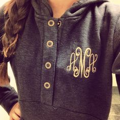 Birthday/Christmas Monogrammed hoodie from Medema Medema Medema Medema Lilly Personalized Wedding Gifts, Monogram Gifts, Monogram Hoodie, Jogging, Little Presents, Marley Lilly, Swagg, Autumn Winter Fashion, Spring Fashion