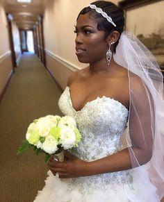 Bridal finger waves.