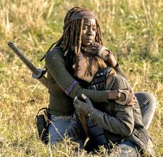 """delightfulzombe: """"Maggie and michonne 8x16 warth#twd """""""