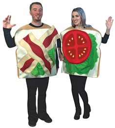Halloween Costumes Couples: Blt Couples Adult Costume Bacon Lettuce Tomato Halloween -> BUY IT NOW ONLY: $50.95 on eBay!