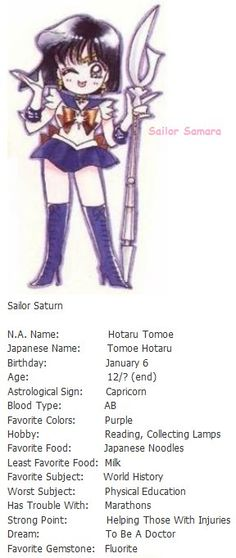 "Sailor Saturn info - ""Sailor Moon"""