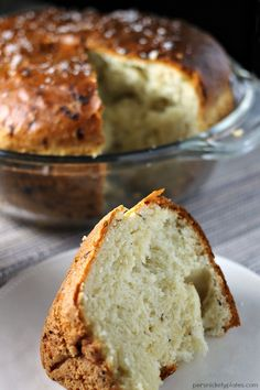 Onion Dill Bread is a simple bread recipe passed down from my great grandma. It pairs perfectly with soups & stews!   Persnickety Plates AD