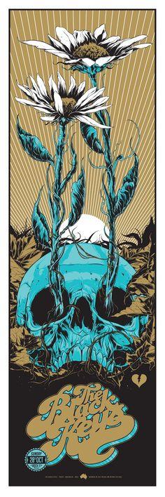 """The Black Keys *Perth 28th Oct by Ken Taylor – """"Skull-daisy"""""""