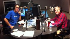 Alan Chapman and your friendly DJ, Dennis Bartel in studio together during the Spring 2012 Membership Drive.
