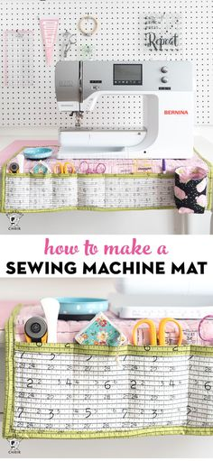 Organized with this DIY Sewing Machine Mat A free sewing tutorial for a fold up travel sewing machine mat and organizer.A free sewing tutorial for a fold up travel sewing machine mat and organizer. Sewing Hacks, Sewing Tutorials, Sewing Crafts, Sewing Tips, Tutorial Sewing, Free Tutorials, Sewing Art, Sewing Basics, Pochette Diy