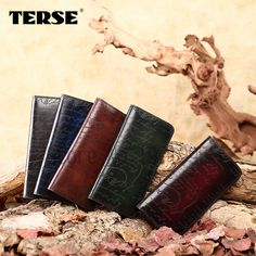 a7cc2d846d35 TERSE Lettering purse handmade genuine leather men dress wallet long purse  luxury style top quality hand-