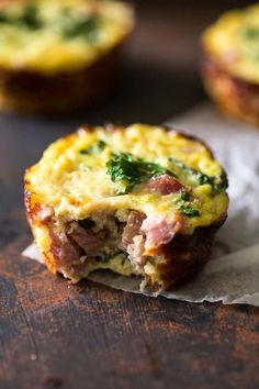 Egg Muffins with Ham, Kale and Cauliflower Rice | Food Faith Fitness