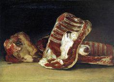Bodegón con costillas y cabeza de cordero. 1808- 1812. Francisco de Goya