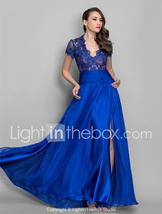 Sheath / Column Plunging Neck Floor Length Chiffon / Sheer Lace See Through / Vintage Inspired / Illusion Detail Formal Evening / Military Ball Dress with Ruched 2020 Blue Plus Size Dresses, Royal Blue Prom Dresses, Prom Dresses 2015, Blue Wedding Dresses, Petite Dresses, Chiffon Evening Dresses, Cheap Evening Dresses, Evening Gowns, Evening Attire