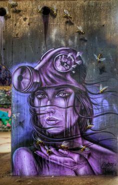 https://flic.kr/p/qrv5wz   Bee keeper   Art by Destroy in the Powerhouse