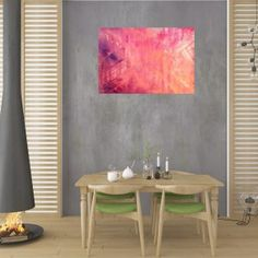 Pink stone - large silver and pink abstract - Ivana Olbricht Pink Abstract, Pink Stone, Shades Of Purple, Mood, Canvas, Artist, Silver, Pictures, Painting
