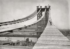 Retro, photo, black and white, bridge, building, history wallpaper