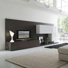 ebay angebot wohnwand weiß / schwarz inkl. beleuchtung woody 93 ... - Moderne Wohnzimmer Wandfarben