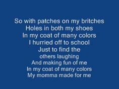 Coat Of Many Colors   Dolly Parton - With Lyrics