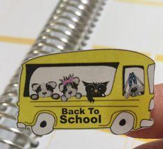 Calendar Planner stickers school college owl dog by sisscreations