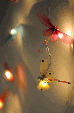 Dragonfly String Lights for fairy garden