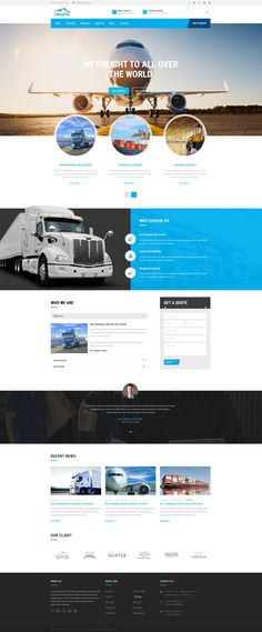 ZT Logistic created for logistics, trucking, transportation companies and small freight business. It comes with wide range of homepage layouts that will fit any transportation industry size. Design Logo, Web Design Company, App Design, Design Agency, Branding Design, Graphic Design, Website Layout, Web Layout, Layout Design