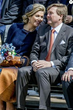 ♥•✿•QueenMaxima•✿•♥...27 April 2017 - Dutch Royals attend King's Day celebration in Tilburg - coat and dress by Jantaminiau, shoes by Gianvito Rossi