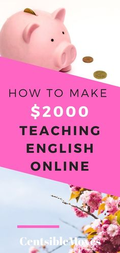Looking for online jobs no experience? Earn extra income by teaching english online. Make Money Blogging, Make Money From Home, Way To Make Money, Make Money Online, Money Tips, Saving Money, Easy Online Jobs, Hustle Money, Investing For Retirement