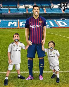 For the Second time Real Madrid has been defeated by Barcelona at Santiago bernabeu and they are feeling like home Fifa Football, Football Art, Football Memes, Manchester United, Real Madrid, Liverpool, Lionel Messi Wallpapers, Messi Photos, Little Brothers