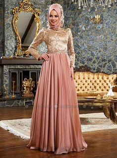 Gunyeli Evening Dress - Gold - Powder - Mevra