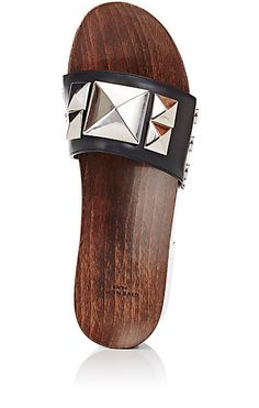 Givenchy Studded Leather Clog Sandals - Sandals - 504818325