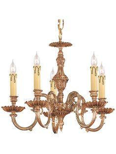 Novella 5 Light Chandelier In Olde Brass | House of Antique Hardware