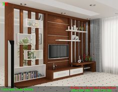 Partisi Living Room Partition Design, Living Room Tv Unit Designs, Room Partition Designs, Ceiling Design Living Room, Home Room Design, Home Interior Design, Lcd Unit Design, Lcd Panel Design, Tv Cabinet Design
