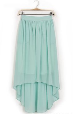High Low Chiffon Skirt