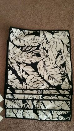 Pottery Barn Banana Leaf Pillow Cover Black Cream Linen Cotton 18x18 | eBay