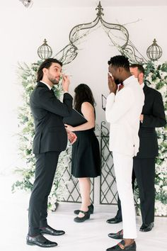This intimate at-home wedding is sure to make your heart swell with happiness! Soulmates Adam & Tee decided to tie the knot in a beautiful ceremony at their cozy apartment. See more rustic wedding inspiration at rusticweddingchic.com | Photo: Nicole Morisco Photography Rustic Wedding Inspiration, Wedding Ideas, Cozy Apartment, Bridesmaid Dresses, Wedding Dresses, Home Wedding, Tie The Knots, Happiness, Couple Photos