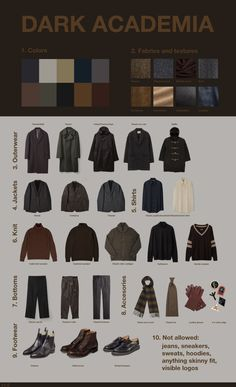 Dark academia is a dark, college-inspired aesthetic outfit. The outfits are inspired by urban dress with a dark and intelligent edge. They incorporate. Aesthetic Fashion, Aesthetic Clothes, Look Fashion, Fashion Outfits, Aesthetic Outfit, Aesthetic Style, Aesthetic Dark, Fashion Goth, Looks Dark