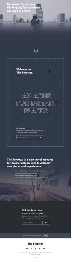 Unique Web Design, The Fernway via @lingyeung #Web #Design