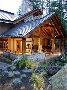 Image result for textured metal roof on house