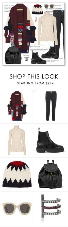 """""""Warm and comfy"""" by angelicallxx ❤ liked on Polyvore featuring Burberry, M.i.h Jeans, Acne Studios, Isabel Marant, Chloé, See by Chloé, Gucci, Anita Ko and fringe"""