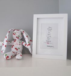 """""""And though she be but little, she is fierce"""", Shakespeare quote, newborn gift"""