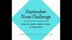 Learn to paint realistic noses in watercolor! Join us in the September nose challenge! In response to your requests, we are creating a nose challenge! Walk s. Walking Challenge, Walking For Health, Education Degree, Time Management Skills, School Community, Going Back To School, Learn To Paint, School Fun, Challenges