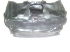 VintageTumi Black Leather Duffel Bag #Mitsubishi