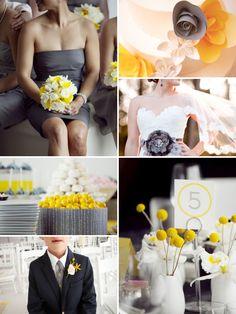 87 best Grey & Yellow Wedding images on Pinterest | Yellow weddings ...