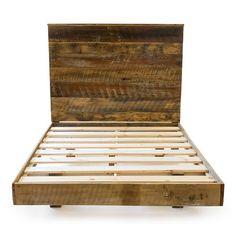 Reclaimed Barnwood High Headboard Bed Sets
