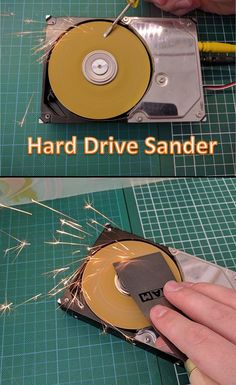 Many people have an old hard drive laying around. In this project we will put it to good use by turning it into a powerful disk sander! It's a cheap and easy project, but it has already proven to be very useful when sharpening tools and sanding though materials.