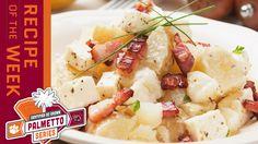 Certified SC Grown Bacon Blue Cheese Potato Salad | Palmetto Series Blue Cheese Potato Salad, Tailgating Recipes, Mashed Potatoes, Bacon, Ethnic Recipes, Hot, Whipped Potatoes, Smash Potatoes, Pork Belly