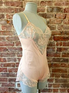 Vintage Sheer Pink Teddy - Pin Up. Beautiful and timeless.
