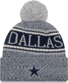 eb72af6464d Cowboys Womens New Era Winter Cutie Cuffed Knit Hat with Pom - White ...